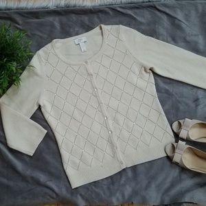 LOFT Wool-Cashmere Blend Cardigan Sweater